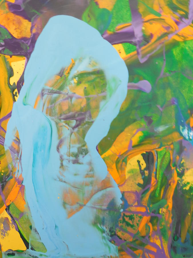 Abstract Painting -  Pregnant And Feeling So Empty by Bruce Combs - REACH BEYOND