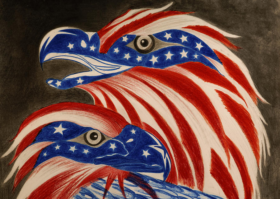 American Drawing -  Proud Of Eagle by Jalal Gilani