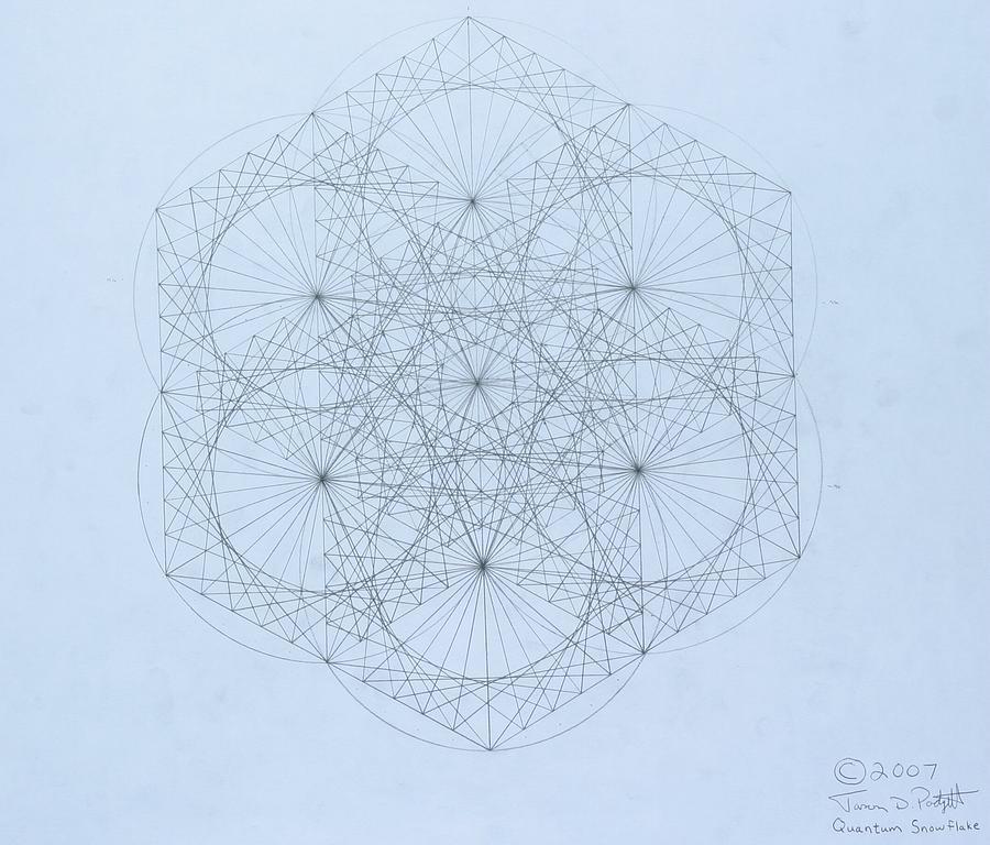 Jason Padgett Drawing -  Quantum Snowflake by Jason Padgett
