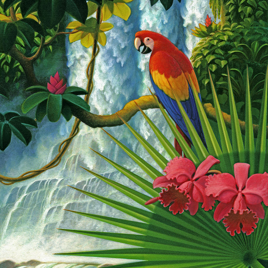 Rainforest Paradise Painting By Leland Klanderman