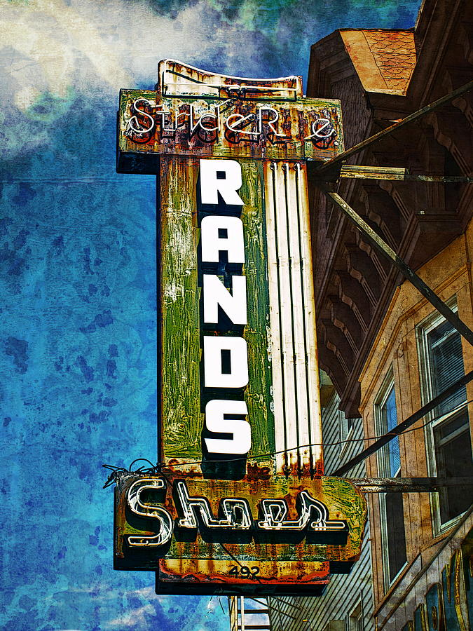 Signs Photograph -  Rands by Wayne Gill