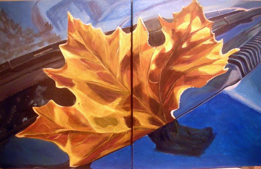 Orange Painting -  Reflection by Vera Lysenko