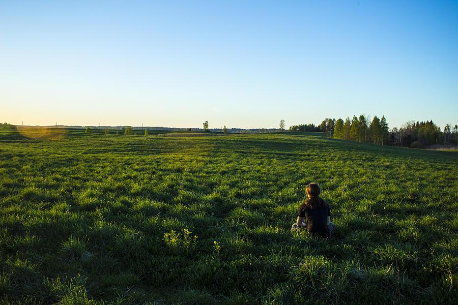 Grass Photograph -  Relaxing by Evaldas Slizauskas