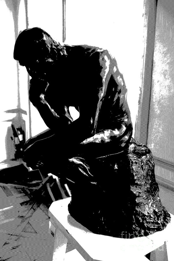 Rodin Photograph -  Rodin  -  The Thinker by Jacqueline M Lewis