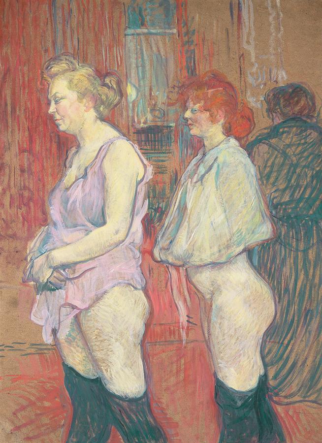 Whore Painting -  Rue Des Moulins by Henri de Toulouse-Lautrec