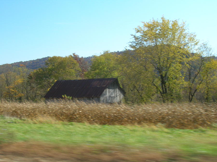 Rustic Barn Photograph -  Rural Highway   by Dina  Stillwell