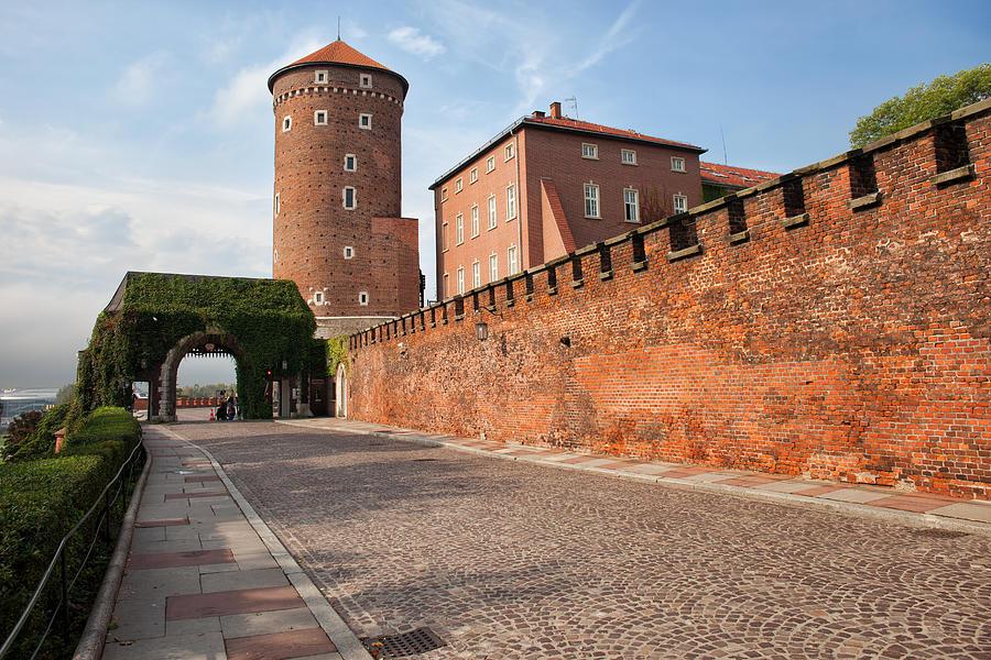 Sandomierska Photograph -  Sandomierska Tower And Wawel Castle Wall In Krakow by Artur Bogacki