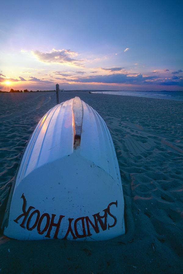 Beach Photograph -  Sandy Hook Beach Sunset by George Oze