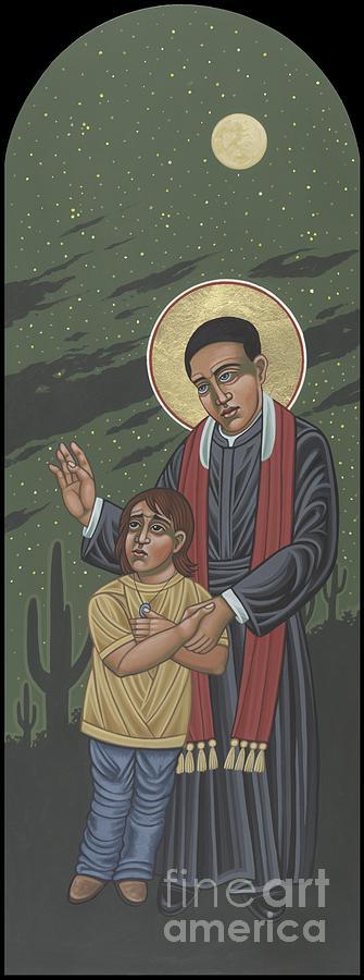 Santo Toribio Painting -  Santo Toribio Romo y Gonzalez Patron of Immigrants 277 by William Hart McNichols