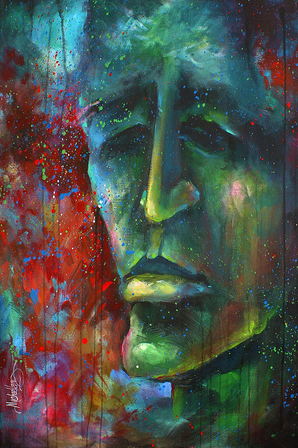 Urban Painting -  Searching For Eve by Michael Lang