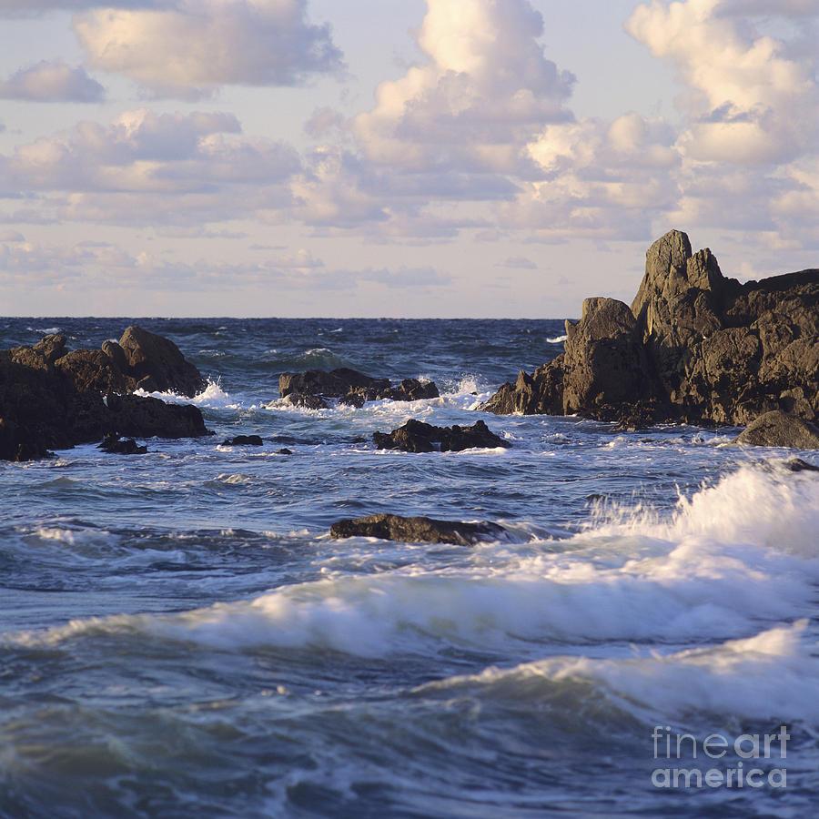 Seascape. Rocks. Normandy. France. Europe Photograph by Bernard Jaubert