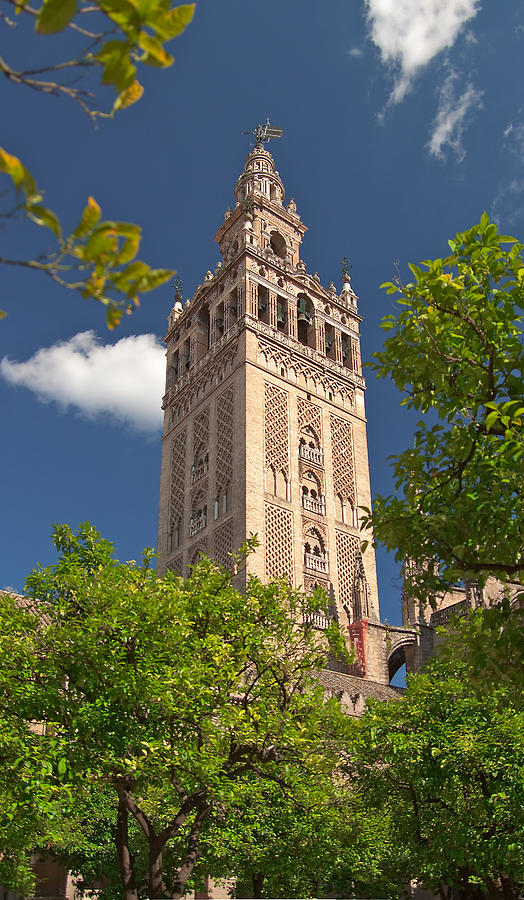 Seville Photograph -  Seville Cathedral Belltower by Viacheslav Savitskiy