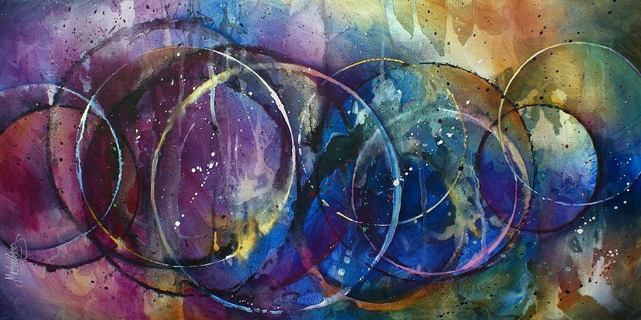 Abstract Painting -  Shudder by Michael Lang