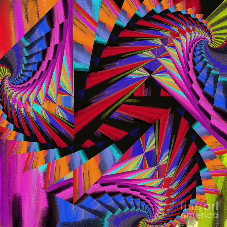 Stairs Digital Art -  Stairs by Soumya Bouchachi