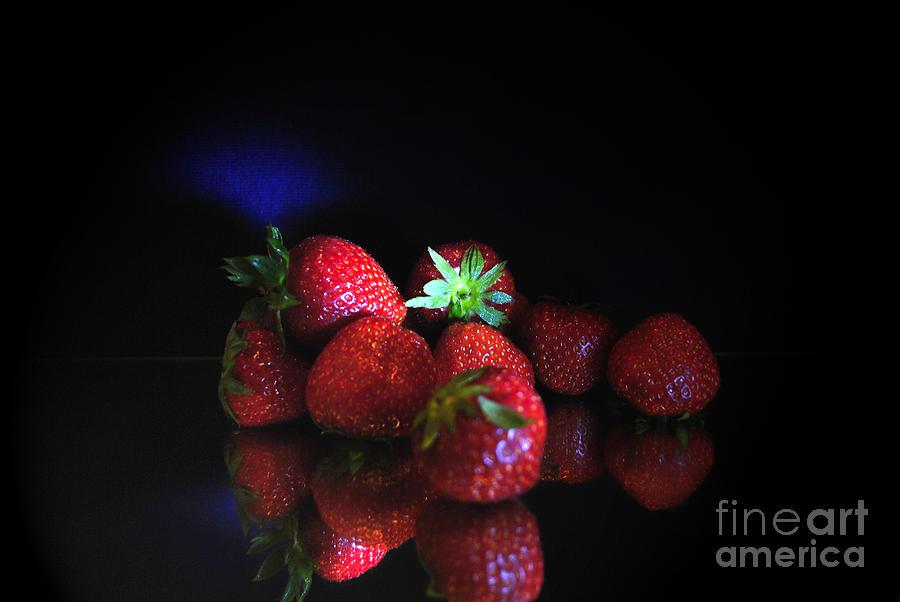 Strawberries Photograph -  Still Life With Strawberries by Maja Sokolowska