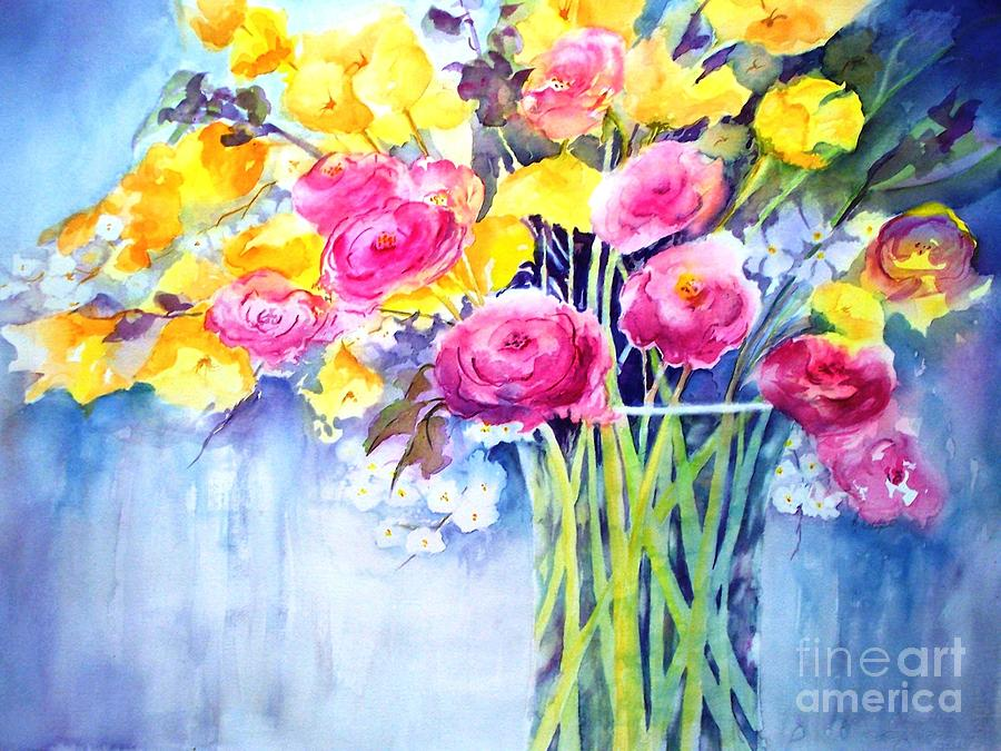 Watercolor Painting -  Symphony Of Color by Maryann Schigur