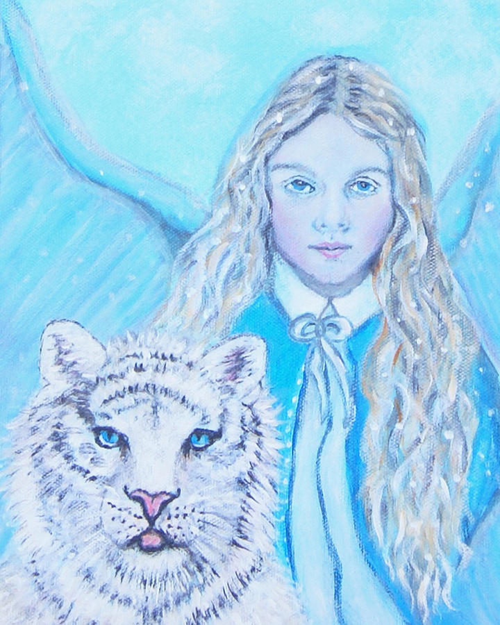 Angel Painting -  Tatiana by The Art With A Heart By Charlotte Phillips