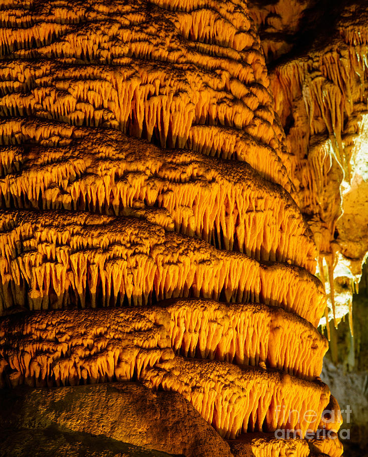 Carlsbad Caverns Photograph -  Temple Of The Sun Detail by Tracy Knauer
