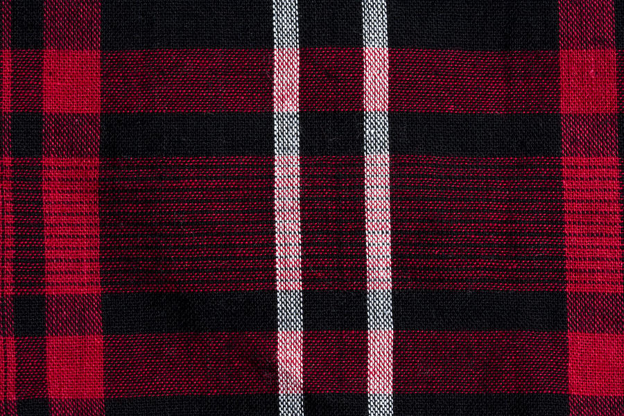 Texture Of Red Black Checkered Fabric Photograph By Ib Photo