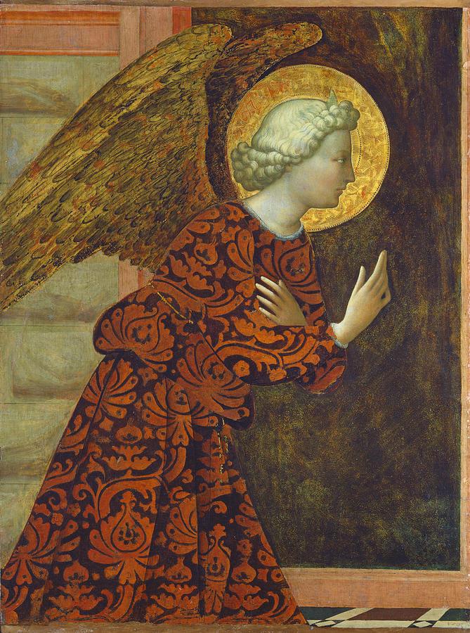 The Archangel Gabriel Painting by Tommaso Masolino da Panicale