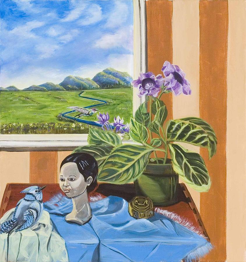 Susan Culver Fine Art Prints Painting -  The Blue Jay Speaks by Susan Culver