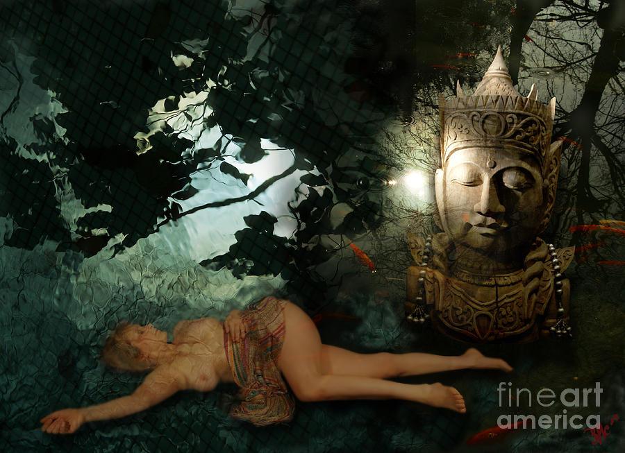 Buddha Digital Art -  The Buddha  Tempation by Rosa Cobos