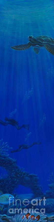 Seascape Painting -  The Dive by J Barth