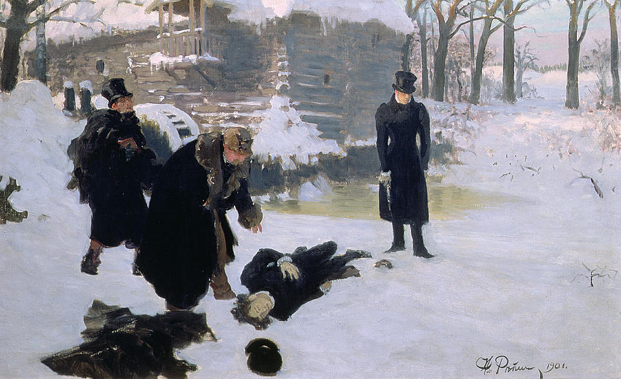 Duel Painting -  The Duel by Ilya Efimovich Repin