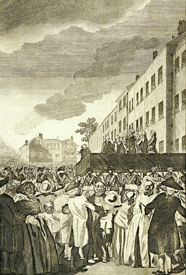 Execution Drawing -  The Execution Of Rebel Lords by Mary Evans Picture Library