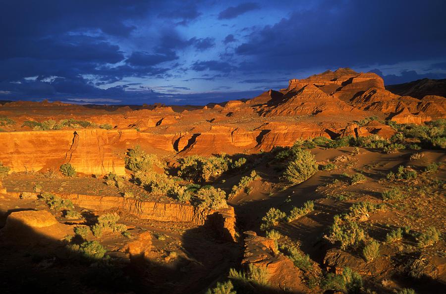 Asia; Asian; Central Asia; Desert; Deserts; Landscape; Nature; Nobody; Outdoors; Outside; Rocks; Rocky; Sandy Desert Photograph -  The Gobi by Anonymous