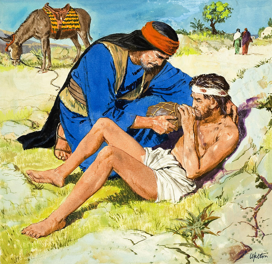 The Painting -  The Good Samaritan  by Clive Uptton