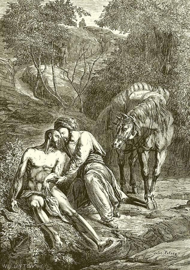 The Drawing -  The Good Samaritan  by English School