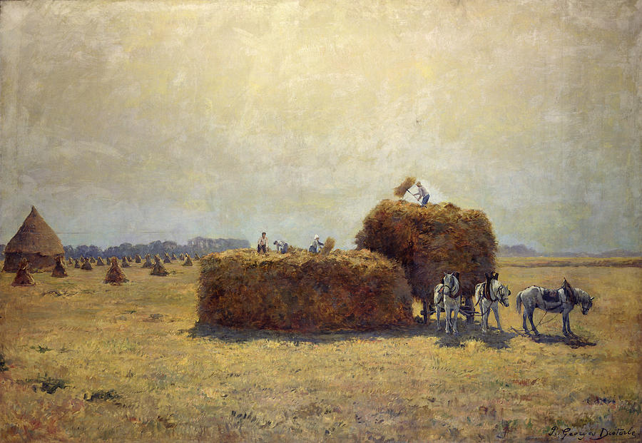 Harvest Painting -  The Harvest by Pierre-Georges Dieterle