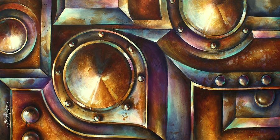 Abstract Design Painting -  The Keep  by Michael Lang