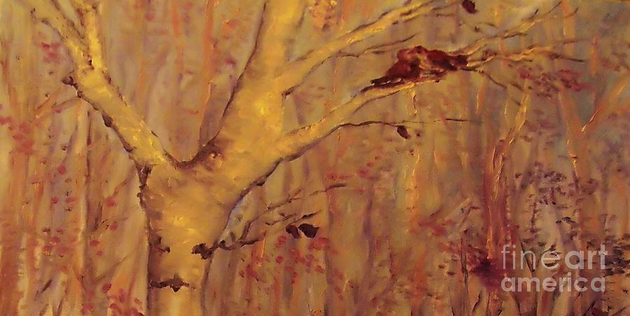Birds Painting -  The  Loving  Birds by Beth Arroyo