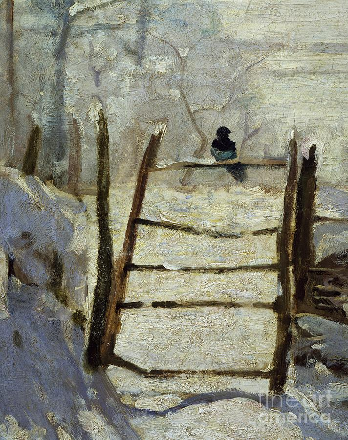 Wintry Painting -  The Magpie by Claude Monet