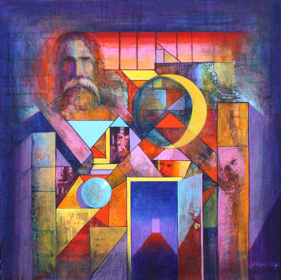Pythagoras Painting -  The Pythagoras Door by J W Kelly