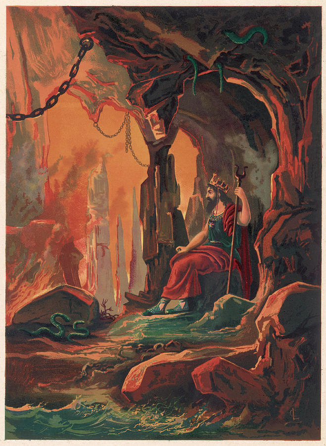 Hades Drawing -  The Ruler Of The Underworld by Mary Evans Picture Library