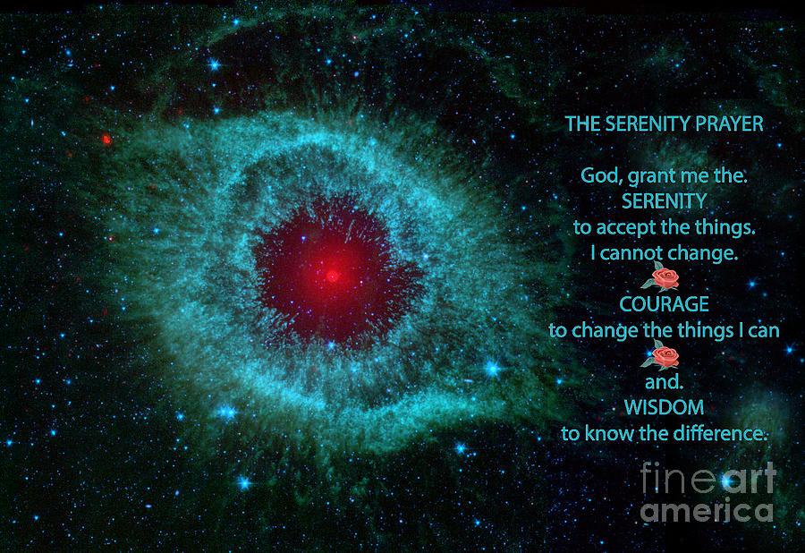 God Photograph -  The Serenity Prayer Helix Nebula. by Heinz G Mielke