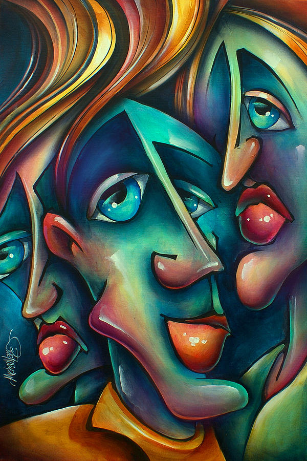 Portrait Painting -  Three  by Michael Lang