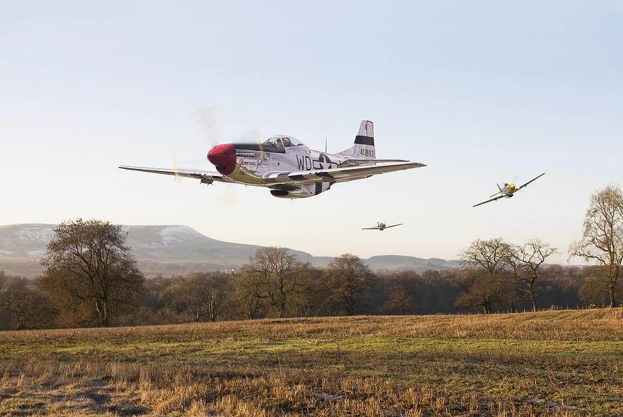 Aircraft Digital Art -  Through The Gap by Pat Speirs