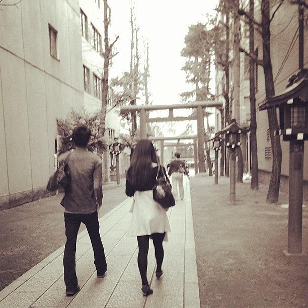 Shrine Photograph - ふたり #tokyo #shinjyuku #shrine by Tokyo Sanpopo