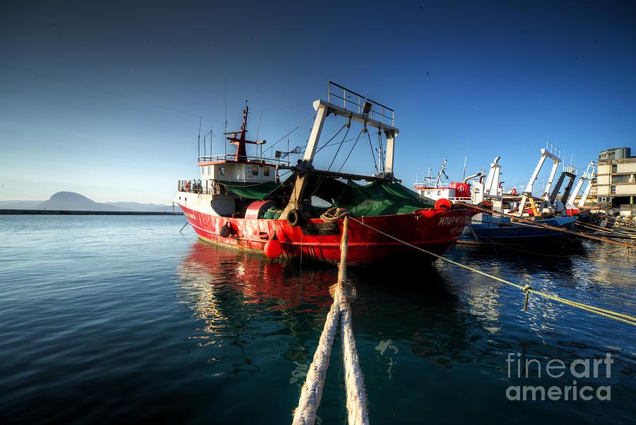 Trawlers At Patras Photograph