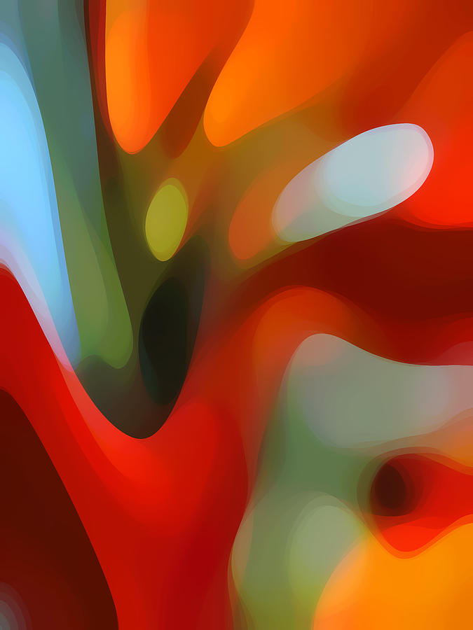 Abstract Painting -  Tree Light 2 by Amy Vangsgard