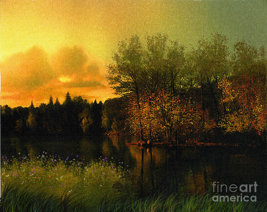 Fall Painting -  Warm Waters by Robert Foster