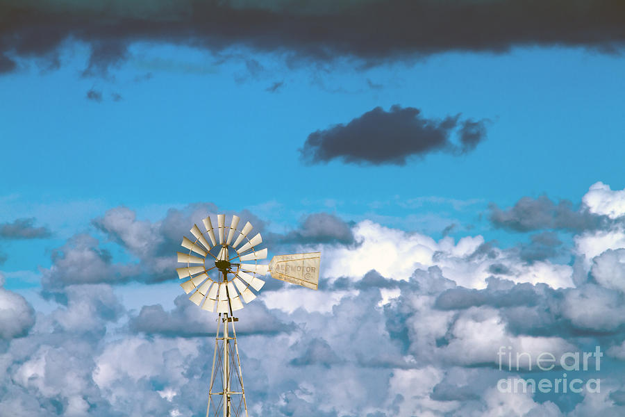 Alternative Photograph -  Water Windmill by Stelios Kleanthous