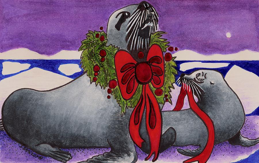 Christmas Painting -  Wear Your Best by Joy Bradley