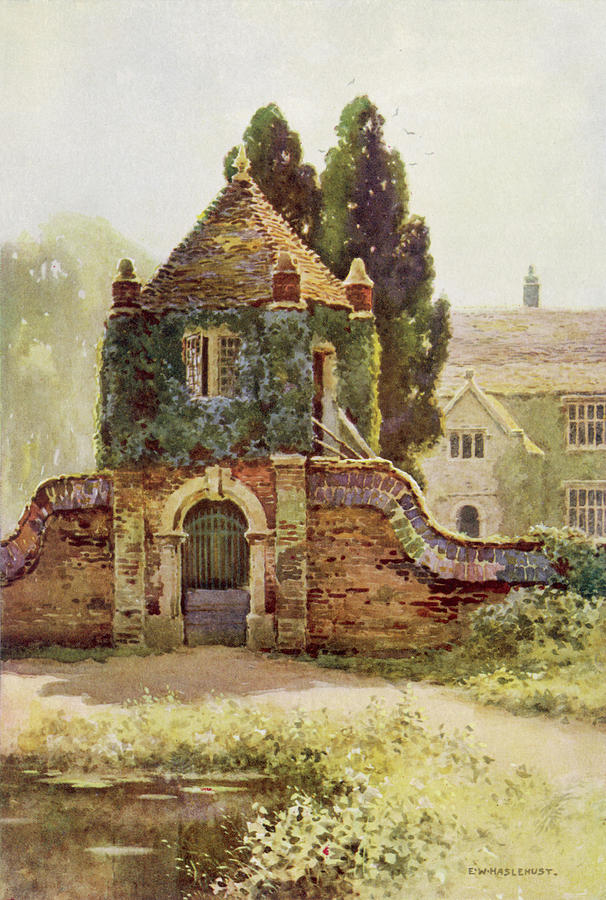 Manor House Drawing: Wessex Scenery Poxwell Manor House Drawing By Mary Evans