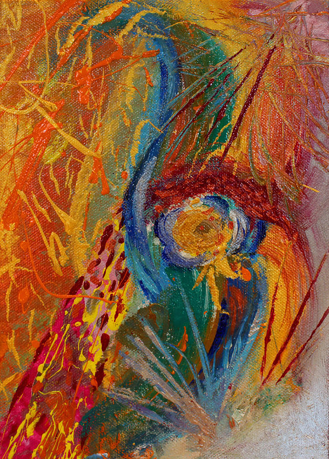 Abstract Paintings Painting -  When We Meet Again Part 1 by Julia Fine Art And Photography