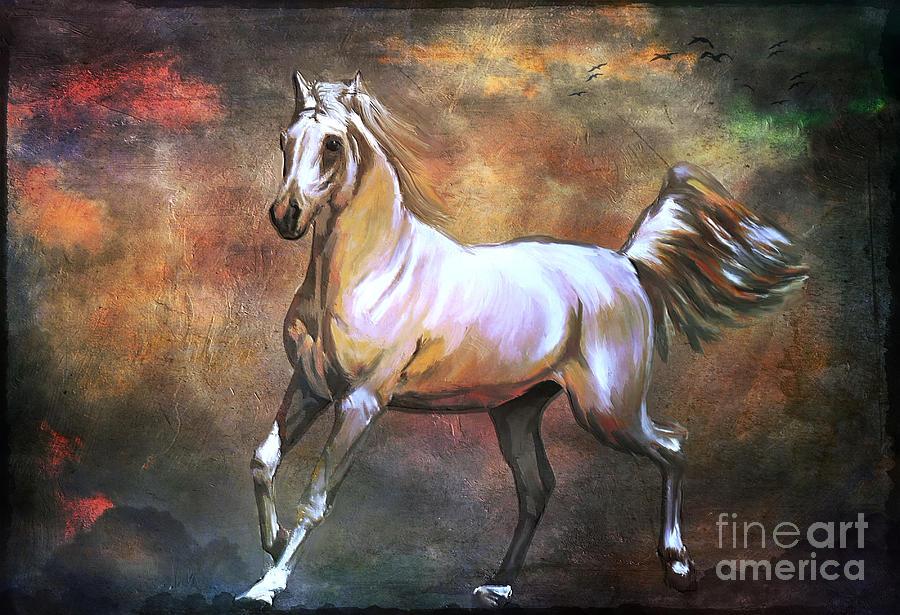Horse Digital Art -  Wild Horse. by Andrzej Szczerski